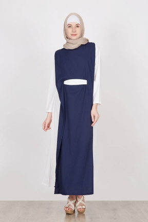 Arista Dress Navy Hijabenka